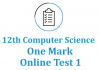 12th computer science online test 1