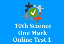 10th Science One Mark Online Test 1