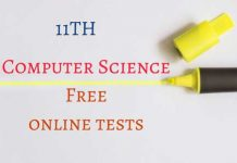 11th-Computer-Science-Free-online-tests