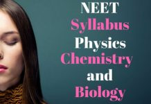 NEET 2018 Syllabus - Physics, Chemistry, Biology