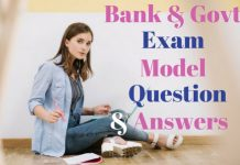 Bank-Govt-Exam-Model-Question-Answers