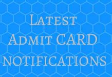 LATEST-ADMIT-CARD