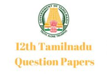 12th Tamilnadu Question Papers