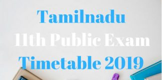 Tamilnadu-11th-Public-Exam-Timetable-2019