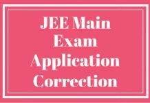 JEE-MAIN-Exam-Application-Correction