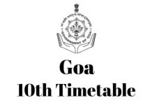 Goa-10th-Timetable