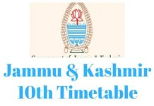 Jammu-Kashmir-10th-Timetable