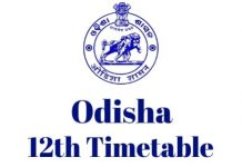 Odisha-12th-Timetable