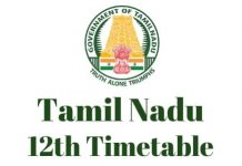 Tamilnadu-12th-Timetable