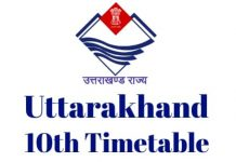 Uttarakhand-10th-Timetable