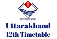 Uttarakhand-12th-Timetable