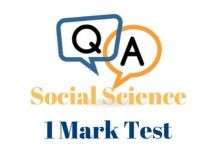 10th Social Science One Mark Online Test