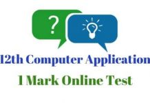 12th-Computer-Applications-I-Mark-Online-Test