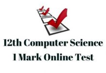12th-Computer-Science-One-Mark-Test